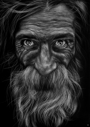 Number: 15Título: Melquiades - Carpe Diem Técnica: pastel Tamaño: 70.5x97,5 cm Año: 2018Picture of the amazing photographer Lee Jeffries